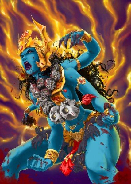 angry Indian goddess